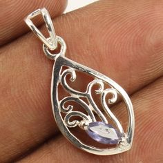 925 Sterling Silver Jewelry Handmade Artisan Pendant Natural IOLITE Gemstone NEW #Unbranded #Pendant