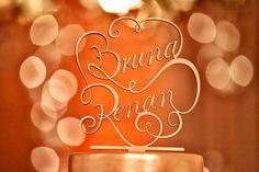 Topo do bolo. Casamento Bruna e Renan.