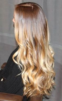 ... Brown To Blonde Medium Ombre Hair Color Light ...