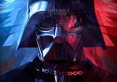 / Cubismo by Luis Huertas, via Behance Darth Vader, Star Wars Darth, Star Wars Clone Wars, Star Trek, Toulouse, Episode Vii, Star Wars Fan Art, The Force Is Strong, Star Wars Poster