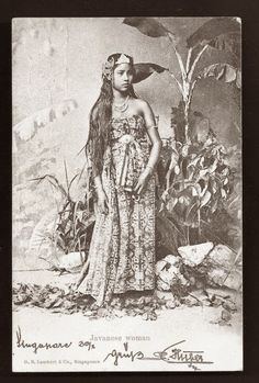 old-indische: Javanese Woman ~ ca 1899