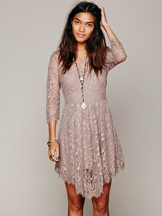 how do you feel about sleeves? Free People Floral Mesh Lace Dress, $128.00