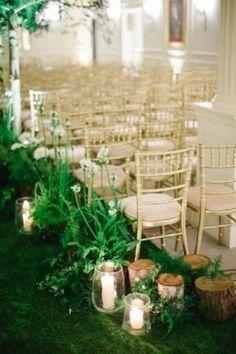 secret garden indoor wedding arch ideas