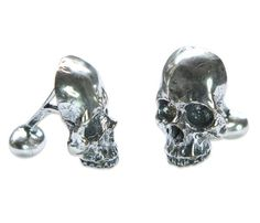 Very cool Skull Cuff Links...they go perfect with my Skull-n-Guns theme of my '64 Panhead.