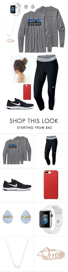 """""""Untitled #193"""" by gabriellaallen on Polyvore featuring Patagonia, NIKE, Melissa Joy Manning and Kendra Scott"""