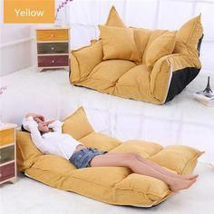 2018 Linen Fabric Upholstery Adjustable Floor Sofa Bed Lounge Sofa Bed Floor Lazy Man Couch Living Room Furniture Video Gaming Sofa From 20101 DhgateCom Living Room Art, Living Room Furniture, Bean Bag Living Room, Sofa Bed Living Room, Futon Bedroom, Lounge Furniture, Luxury Furniture, Sofa Bed Lounge, Bed Couch