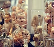 Inspiring image body parts, creepy, doll heads, doll parts, dolls, heads, jars, photo, photography #7822 - Resolution 480x319px - Find the image to your taste