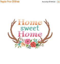 Spring SALE Modern Cross Stitch Pattern Home by ZindagiDesigns
