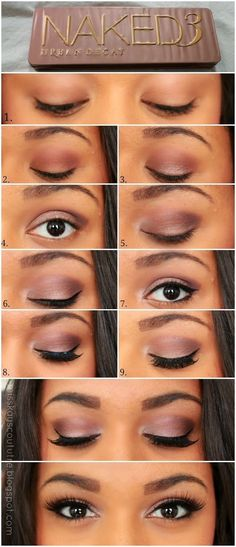 Naked 3 tutorial:2.crease:nooner;3.center eyelid:mugshot;4.outer V&crease:Darkside;5.inner corner eyelid:strange;