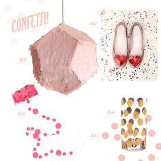 Free Confetti Photoshop Brushes  No 1. Confetti System Meteorite Pinata  No. 2. Ban.do sequin heart shoe clips   No. 3.Kristina Marie Confetti Garland No.4. Darbie Angel Confetti tumbler No.5 Free Confetti Photoshop Brushes!