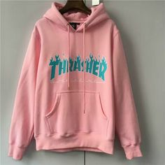 THRASHER FLAME LOGO HOODIES Men Box Supremo Paccbet Moletom Hip Hop Skateboards Magazine Kanye Pullover Shark Blaze Sweatshirts