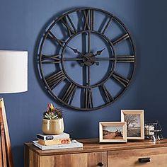 Glitter Mirrored 50cm Wall Clock Silver   Dunelm Big Wall Clocks, Wall Clock Brands, Mirror Wall Clock, Living Room Clocks, Black Clocks, Kitchen Wall Clocks, Oversized Clocks, Skeleton Clock, Gold Ceiling