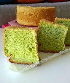Baking on Cloud 9: Pandan rice flour chiffon cake (Recommended)