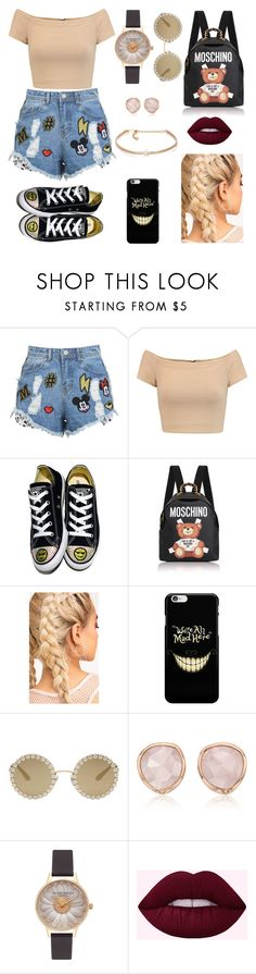 """""""💜👌"""" by elizabeth-gp on Polyvore featuring Alice + Olivia, Converse, Moschino, Dolce&Gabbana, Monica Vinader, Olivia Burton and Kenneth Jay Lane"""