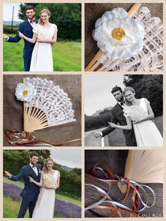Beautiful hand decorated hand fan from Lilly Dilly's, photo courtesy of R&L photography #wedding #fan #bespoke #couture #spring #summer