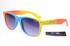 Oakley Frogskins Sunglasses Orange Yellow Blue Frame Gray Lens B [OK436] - $21.88 : Top Ray-Ban® And Oakley® Sunglasses Online Sale Store- Save Up To 85% Off
