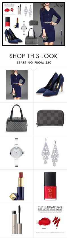 """""""Dress for ..."""" by majalina123 ❤ liked on Polyvore featuring Rupert Sanderson, Louis Vuitton, Movado, Carolee, Estée Lauder, NARS Cosmetics, Ilia and Urban Decay"""