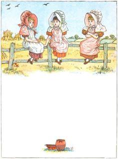 Three little girls were sitting on a rail, Sitting on a rail, sitting on a rail - Under the Window, 1878