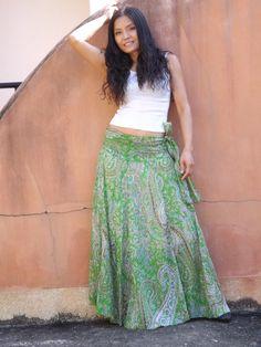 Maxi Skirt / Long Skirt / Full Length Skirt / Skirt Dress / Lined Skirt / Summer Skirt / Cotton Skirt / Modest Skirt / Boho Skirt Bohemian Maxi Skirt, Boho Skirts, Wrap Skirts, Maxi Skirts, Tie Dye Skirt, Dress Skirt, Shirt Dress, Beautiful Long Dresses, Beautiful Ladies