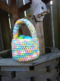 Want to be the talk of the Easter Egg hunt? Make everyone jelly with these fun and fabulous easter egg baskets! want a different color? just let me know.  You choose the colors, I do the rest! Remember, this basket will be crocheted with love and a stitch of sass! #easter #easterbaskets #crochet