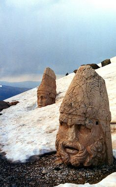 Winter at Nemrut Dagi in Turkey