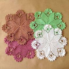 Doily small crochet, Doilies crochet, Crochet doily, Home decor, Lace doily, Handmade, For housewares, Cotton doily, Table decoration