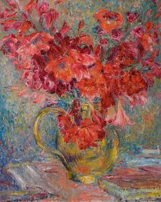 Georges Morren, «Still Life with Flowers», 1913
