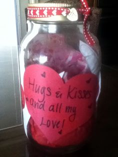 DIY Candy Jar Gift- Grab a jar and decorate with stickers, glitter, etc. then fill it with candy and write a special message on the front. Great for teacher and family gifts...