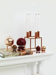 Scandinavian home accessories in brass or gold