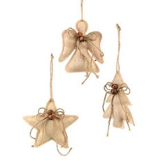 Natural Burlap Ornaments