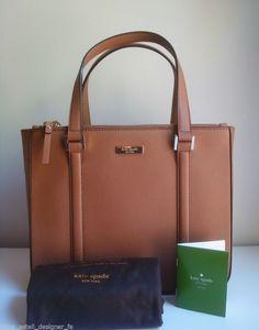 NEW! NWT Kate Spade Newbury Lane Cadene Saffiano Leather Purse Bag Brown #katespade #ShoulderBag