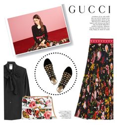 Presenting the Gucci Garden Exclusive Collection: Contest Entry by katsin90 on Polyvore featuring polyvore fashion style Moschino Gucci Avenue Anja clothing gucci