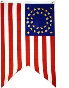 Valley Forge Flag 3-Foot by 5-Foot Nylon Rhode Island Regiment Historical Flag with Canvas Header and Grommets