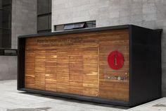 Puntos de información de madera en Bogotá|Espacios en madera