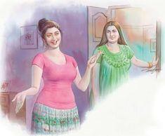 Indian Women Painting, Indian Art Paintings, Old Paintings, Sexy Painting, Woman Painting, Pokemon, Kerala India, Indian Beauty Saree, Beautiful Celebrities
