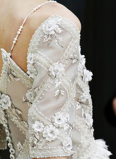 Chanel ~ just LOOK at that gorgeous pearl and beading detailing!!!  And the floral appliques!