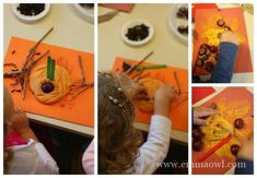 Make this autumn sensory table for school or home, you will be amazed at how small things make the biggest impression! Fall Preschool, Sensory Table, Play Dough, Autumn, Activities, Small Things, Owl, Children, Young Children