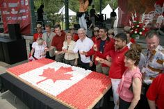Love the Canada day cupcake cake Dominion Day, Canada Day, Air Show, Home And Away, Surrey, British Columbia, Fireworks, Flags, Carnival