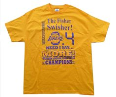 NWOT Lakers 2004 Derek Fisher The Swisher 0.4 Clutch Shot Size XL by Lunasvintage on Etsy