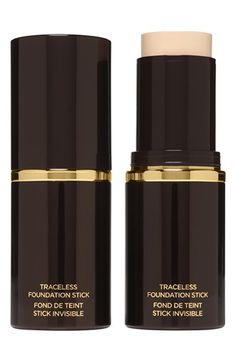 Tom Ford Traceless Foundation Stick.  The traceless foundation stick by Tom Ford features a unique, hydrating cream formula designed to give your skin a smooth, flawless finish. It features an undetectable formula so you look beautifully natural whether your using sheer, medium or full coverage. When used as a concealer, it swiftly diminishes the appearance of imperfections.0.5 oz.