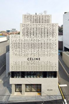 Idea Celine Flagship Building Cheongdam by Casper Mueller Kneer Architects in Seoul, South Korea China Architecture, Brick Architecture, Celine, Facade Pattern, Retail Facade, White Building, Building Skin, Box Building, Hotel Concept