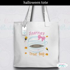Halloween Tote Bag / Personalized Tote / by UnlimitedPartyThemes