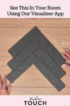 Code: TT0341 Colour: Black Finish: Matt Type: Tile Material: Porcelain Size: 60mm x 250mm Shape: Rectangle Look: Brick Pattern: Brick Bond Slip Rating: P3 Walls: Bathroom Walls, Feature Walls, Floors: Bathroom Floors, Common Area Floors Origin: Made in Italy Brick Tile Floor, Brick Look Tile, Bathroom Flooring, Bathroom Wall, Visualizer App, Brick Bonds, Feature Walls, Brick Patterns, Tile Ideas