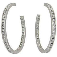 Cartier Diamond Gold Inside Out Hoop Earrings
