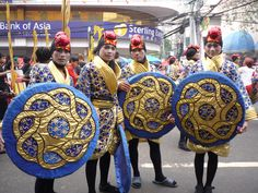 Celebration of Santo Nino in parade in Cebu, Philipines....
