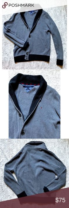 Tommy Hilfiger Luxury Blend Open Cardigan Sweater Tommy Hilfiger Luxury Blend Heavy Cotton Grey Open Cardigan Sweater Size XL   Brand: Tommy Hilfiger Size: XL Condition: pre-owned Material: 80% cotton, 20% acrylic 