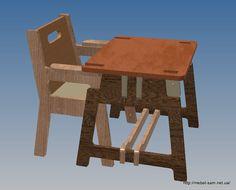 Чертежи для изготовления из фанеры на станке с ЧПУ стульчика-трансформера для кормления