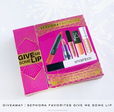 Sephora Favorites Give Me Some Lip  at  @rolalaloves  http://www.rolalaloves.com/2015/02/giveaway-sephora-favorites-give-me-some.html#.VNQ8mC53GT8