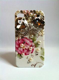 Super Cute Rhinestone Phone Case with Pearls