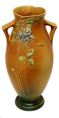Lovely Vintage Roseville Columbine Floor Vase 27 16 US Art Deco Pottery 1940s | eBay